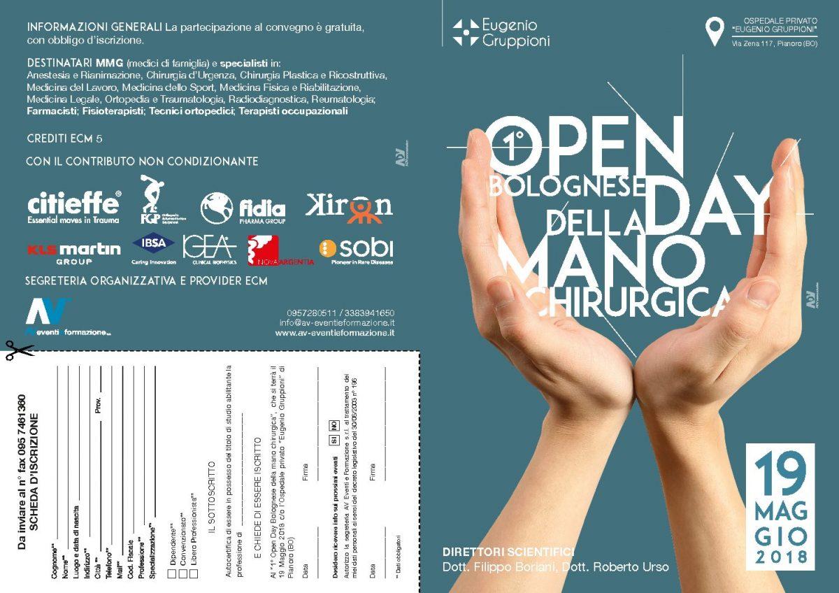 1° Open Day bolognese della manu chirurgica